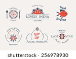 Asian Food Logo Templates Set....