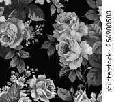 floral vintage pattern... | Shutterstock .eps vector #256980583
