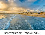 waves in the pacific ocean and... | Shutterstock . vector #256982383