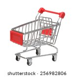 cart on a white background | Shutterstock . vector #256982806