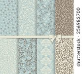 set of seamless damask patterns ... | Shutterstock .eps vector #256983700