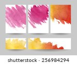 watercolor invitations or... | Shutterstock .eps vector #256984294