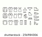 Stock vector set of outline clothes icons 256984306