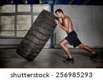 crossfit training   man... | Shutterstock . vector #256985293