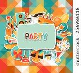 celebration festive background... | Shutterstock .eps vector #256986118