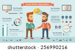 social media infographic... | Shutterstock .eps vector #256990216