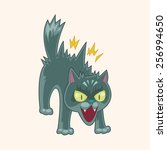 cat theme elements vector eps | Shutterstock .eps vector #256994650
