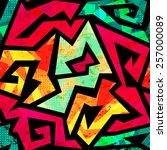 vintage colorful geometric...   Shutterstock .eps vector #257000089