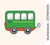 transportation car theme... | Shutterstock .eps vector #257004334