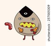 monster cartoon theme elements... | Shutterstock .eps vector #257005309