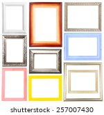 collage of frames isolated on... | Shutterstock . vector #257007430