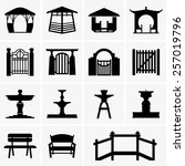 arbors  gates  fountains ... | Shutterstock .eps vector #257019796