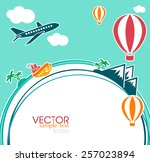 vacation concept elements | Shutterstock .eps vector #257023894