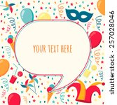 vector speech bubble with... | Shutterstock .eps vector #257028046