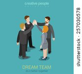 dream team teambuilding... | Shutterstock .eps vector #257030578