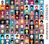 collection of avatars11   81... | Shutterstock .eps vector #257031670