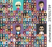 set of people icons in flat...   Shutterstock .eps vector #257031739