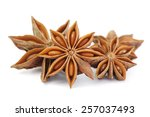Spices Anise Isolated On White...