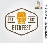 vintage logo  badge  emblem or... | Shutterstock .eps vector #257044513