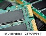 closeup details of computer... | Shutterstock . vector #257049964