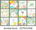 set of 12 creative universal... | Shutterstock .eps vector #257051968