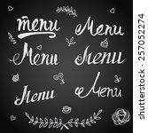 vector set of design elements... | Shutterstock .eps vector #257052274