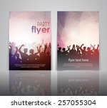 party people flyer template | Shutterstock .eps vector #257055304