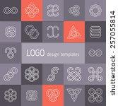vector linear logotypes.... | Shutterstock .eps vector #257055814