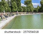 paris  france   may 13  2014 ... | Shutterstock . vector #257056018