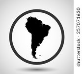 south america vector icon  ... | Shutterstock .eps vector #257071630