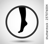 female foot vector icon   black ... | Shutterstock .eps vector #257076004
