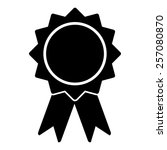 badge with ribbons vector icon  ... | Shutterstock .eps vector #257080870