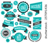 creative badges  stickers ... | Shutterstock .eps vector #257091436