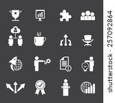 business icon set | Shutterstock .eps vector #257092864