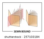 book binding technique  sewn... | Shutterstock .eps vector #257103184