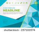 vector brochure flyer design...   Shutterstock .eps vector #257103574
