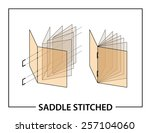 book binding technique  saddle... | Shutterstock .eps vector #257104060