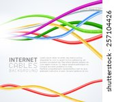 colorful network cables | Shutterstock .eps vector #257104426