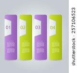 business infographics tabs... | Shutterstock .eps vector #257106523