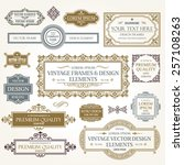 vector vintage collection ... | Shutterstock .eps vector #257108263