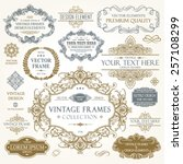 vector vintage collection ... | Shutterstock .eps vector #257108299
