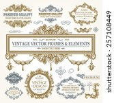 vector vintage collection ...   Shutterstock .eps vector #257108449