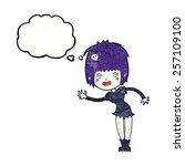 cartoon vampire girl with... | Shutterstock .eps vector #257109100