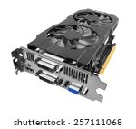 graphics card isolated on white ...   Shutterstock . vector #257111068