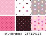 A Set Of Pink Seamless Texture...