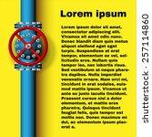design element. vector pipe... | Shutterstock .eps vector #257114860