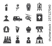 funeral icon | Shutterstock .eps vector #257127040