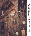 gentleman's accessories on a on ... | Shutterstock . vector #257132974