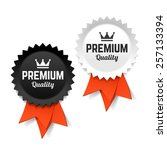 premium quality labels. vector. | Shutterstock .eps vector #257133394