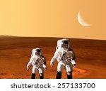 Astronaut Spaceman Planet Mars...